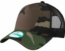 New Era 9Forty Trucker Snapback Mesh Back Hat   Cap - Blank - Camo   Black be383e1f17c9