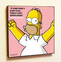 Homer Simpson Painting Decor Print Wall Art Poster Canvas pop Style