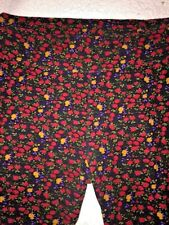 LULAROE TC TALL CURVY FLORAL SPRING Red ROSES & VIOLETS UNICORN WOMENS LEGGINGS