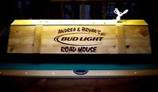 Bud Light Pool Table Light Cue Rack Combo w/ YOUR NAME