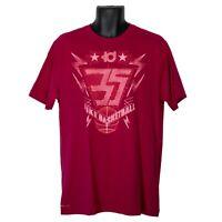 Kevin Durant 35 Nike Basketball Nike Dri-Fit Mens T-Shirt Magenta Size L Large