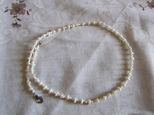 "White Rice Pearl Necklace - 16.5"" long"