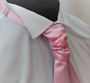 Krawatte. Qualität Satin hellrosa Hochzeit Rüschendetails Knot Tie-Krawatte. verstellbar.