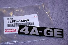 4A-GE Engine Name Plate - MR2 Corolla GTS FX16 AE86 - Genuine Toyota Part- TRD