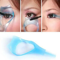 Maquillaje Mujer Tarjeta guía pestañas aplicador máscara pestañas 3 en 1