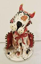 Blue Sky Heather Goldminc Halloween Rufus Dog Devil Candle Holder Votive tealite