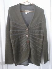 The Territory Ahead Women S 100% Cotton Green Cable Knit Hi Low Cardigan Sweater