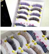 false eyelash 10 pair assorted colour high quality