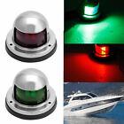 1Pair Stainless Steel Marine Boat Yacht Light 12V LED Bow Navigation Lights new