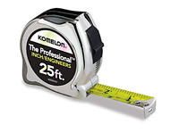 High-Visibility Professional Tape Measure Bother Inch and Engineer Scale Printed