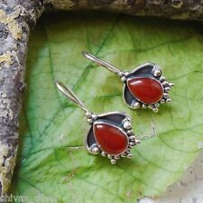 Karneol, orange braun, edel, elegant, Ohrringe, Ohrhänger, 925 Sterling Silber