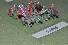 25 mm Medievale/inglese-Men at arms 8 Fichi CAVALLERIA-CAV (21845)
