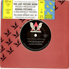 """MOVING PICTURES - WHAT ABOUT ME - RARE PROMO/TICKET INVITE 7""""45 VINYL RECORD '87"""