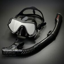 Adult Scuba AntiFog Goggles and Snorkeling Marsk Tube Tempered Glass Diving Set