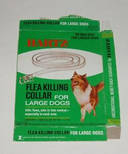 1970's Hartz Dog Flea Collar Box w/ Collie on front