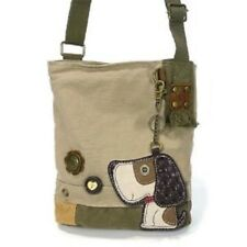 Chala Patch Crossbody TOFFY DOG Bag Canvas Messenger Sand Beige w/ Coin Purse