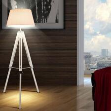 Design Lampadaire Chambre à Coucher Bois Récolte Plafonniers Tissu Blanc