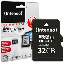 2x Intenso Premium 32 GB Micro SD SDHC Speicherkarte + Adapter Class 10 Karte