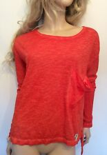 Twisted Muse Sz Small 10 12 14 Orange Oversized TOP 'Florence' Long Sleeved