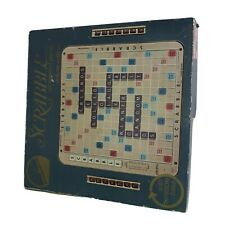 Scrabble Deluxe Edition 1982 Crossword Board Game w/ Turntable Base 6 Player Ed