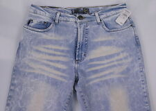 NWT New * JUST CAVALLI * Light Acid Washed 90's Straight Slim Jeans 31 x 33
