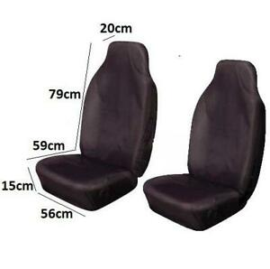 Quality Strong Front Two Black Airbag Fabric Cloth Seat Covers For Daewoo