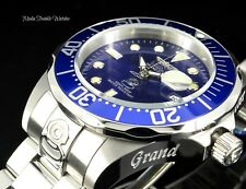 NEW Invicta 47mm Men's Grand Diver AUTOMATIC Blue Dial Silver Bracelet Watch