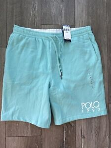 Polo Ralph Lauren 1992 Stadium Collection Fleece Shorts Mint Green S M L XL XXL