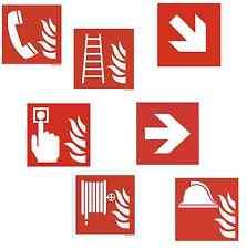 Brandschutzzeichen Schild 15x15 nachleuchtend Feuerlöscher Leiter Wandhydrant