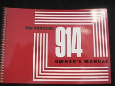 NEW 1971 PORSCHE 914-4 Edition 71  OWNERS MANUAL BOOK DRIVERS HANDBOOK