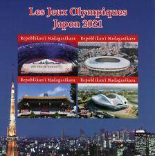 More details for madagascar olympics stamps 2021 mnh tokyo japan summer games sports 4v impf m/s