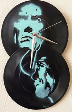 Clint Eastwood  wall clock...recycled records,,dirty dozen.. dirty harry