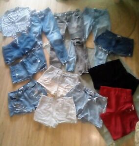 "Lot Shorts  Jeans T38/40""Yazmin.Uniplay.jenyfer.pull&Bear...ect . +Chemise"