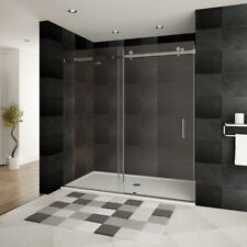 "LessCare 56-60""W x 76""H ULTRA-B Shower Doors Brushed Nickel"