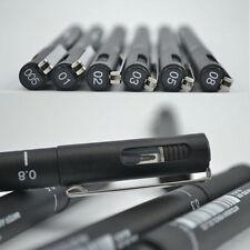 NEW 6PCS Black Art Fine Line Pen Technical Drawing Waterproof Art Supplies Hot