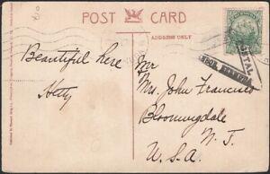 BERMUDA, 1915. Censor Picture Post Card 41, Hamilton - Bloomingdale, N.J.