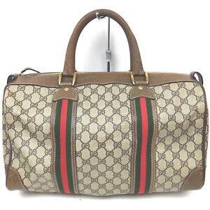 Gucci Boston Bag  Browns PVC 915916