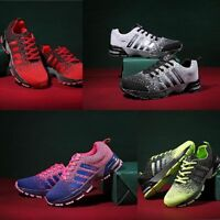 Men's Running Sneakers Breathable Outdoor Sports Shoes Comfy Lace Up Trainers