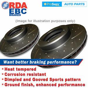 Front Dimp Slotted Disc Brake Rotors Hyundai iLoad Oct2007-Onwards