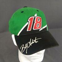Bobby Labonte #18 Snapback Hat Interstate Batteries Geen Black Cap Nascar Racing