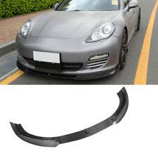 For Porsche Panamera 10-13 Front Bumper Chin Lip Spoiler Body kit Carbon Fiber