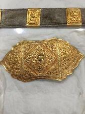 Rare Peranakan  Chinese Nyonya Silver Belt Straits Settlement 19th Century
