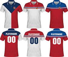 NEW 2018 Czech Republic Hockey Polo T-Shirt JAGR HERTL VORACEK PLEKANEC KREJCI