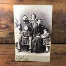 c.1880 ANTIQUE 'BURTON BROS.' DUNEDIN NEW ZEALAND CABINET CARD PHOTOGRAPH #2