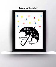 Gli amici preventivi Serie Tv Mostra Poster Stampa Muro Appeso Arredamento ARTE fan regalo d'amore