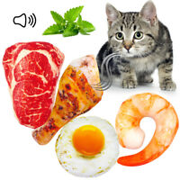 Simulation Food Dog Toys Cat Chew Bite Squeaky Toys Egg Beef Chicken Leg Beef