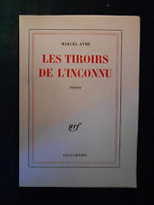 Marcel AYMÉ, Les Tiroirs de l'inconnu (1960) - ÉDITION ORIGINALE NUM. SUR VÉLIN.