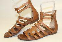 Sam Edelman Berke Womens 40 10 W Brown Leather Gladiator Sandals Flats Shoes