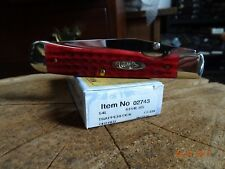 "CASE XX CA-2743 POCKET KNIFE ""TRAPPERLOCK""  4.125"" CLOSED OLD RED POCKET WORN HA"