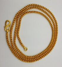 Inch Solid Gold Wedding Gift Unisex Certified 22K Gold Rope Chain Necklace 22